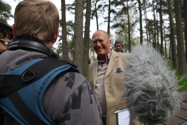 Hans Mossesson och Ljudteknikern Linus Gidstedt
