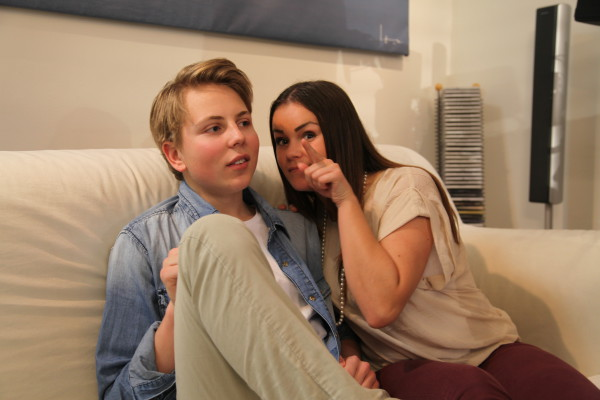 Alexander Strömberg och Rebecca Svensson