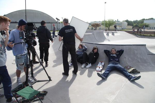 Inspelning i skateboardparken