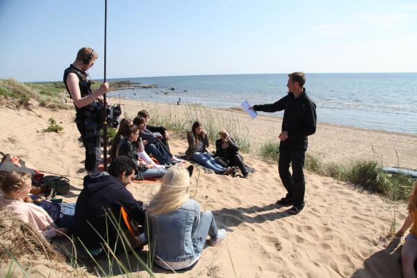 Inspelning på stranden