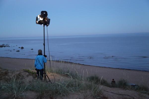 Ljussättning på stranden