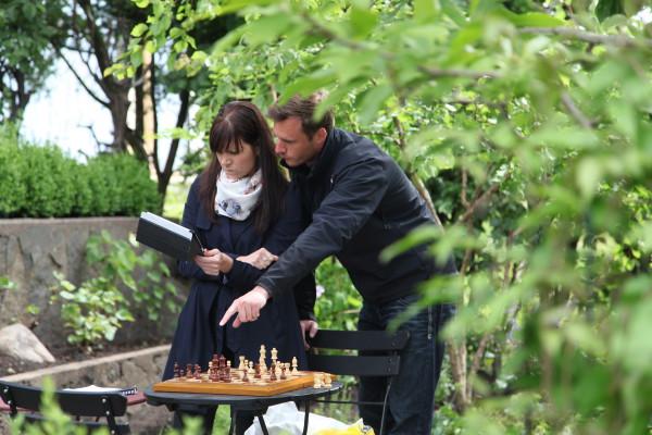 Schackpjäserna placeras ut