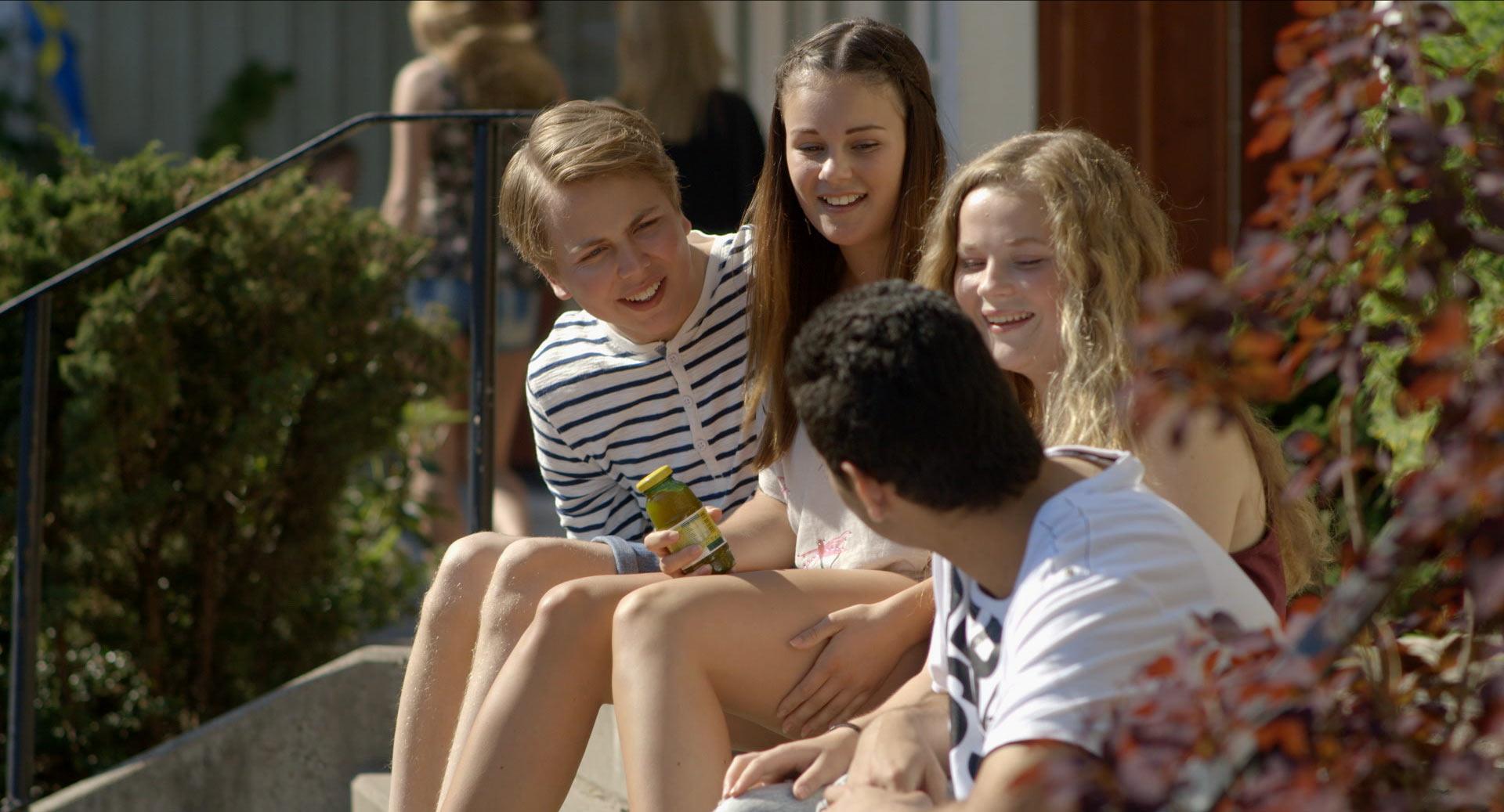 Alexander, Rebecca, Lisa och Hadi