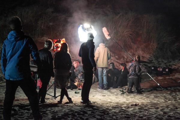 Nattscener under inspelningen av Svart kung